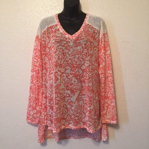 Bethany Mota Floral Tunic Knit Sweater
